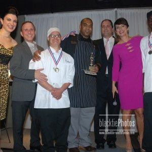 Heather Geronemus, Dennis Haas, Student Cher/Andrew, Chef Venney Rogers (Essensia), Steve Fuino, Belkys Nere & Student Chef/Chris